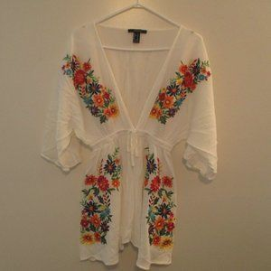 *2/15$* Forver 21 Dress/Top with Embroidery
